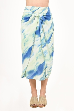 Very J  Tie Dye Knot Midi Skirt - Product List Image