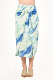 Very J  Tie Dye Knot Midi Skirt - Product Mini Image