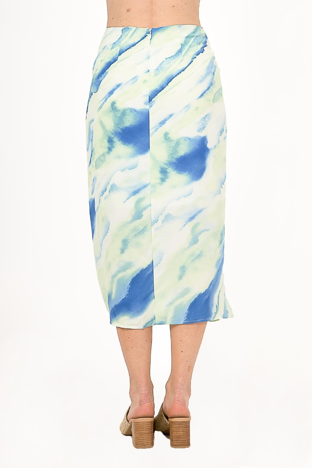 Very J  Tie Dye Knot Midi Skirt - Side Cropped Image