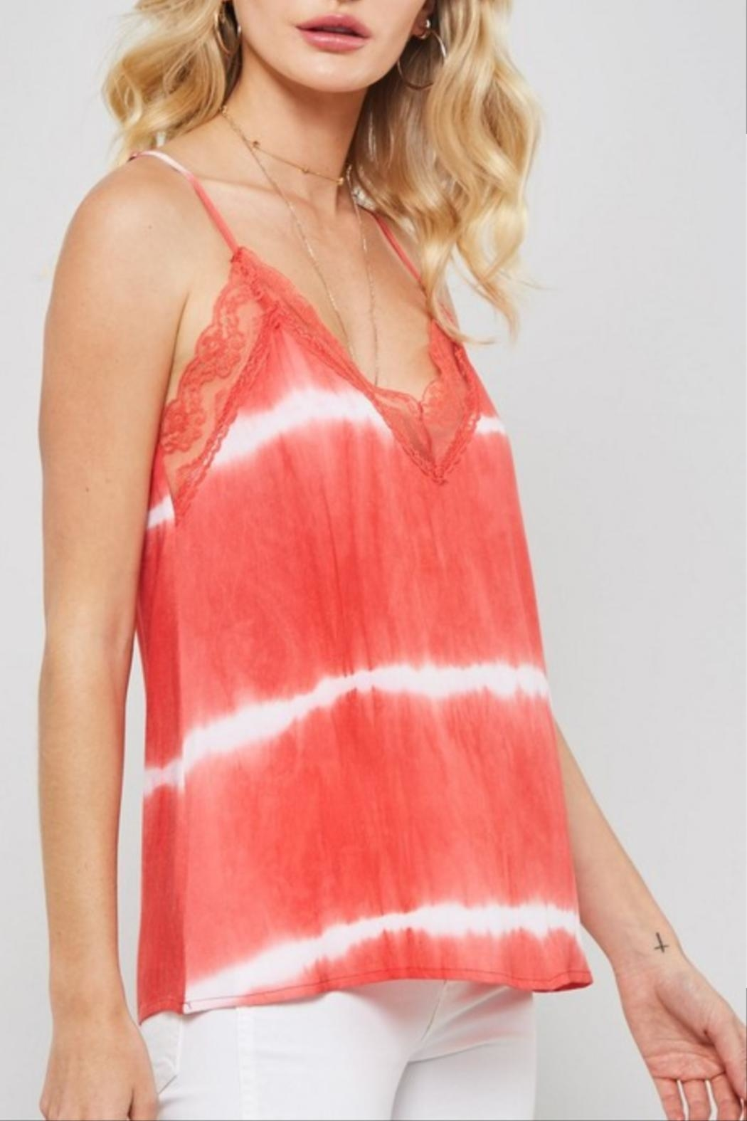 Promesa Tie-Dye Lace Cami - Front Full Image