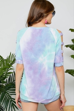 Adora Tie Dye Lattice Sleeve - Alternate List Image