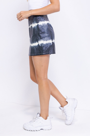 Le Lis Tie Dye Leather Skirt - Side cropped