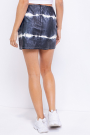 Le Lis Tie Dye Leather Skirt - Back cropped