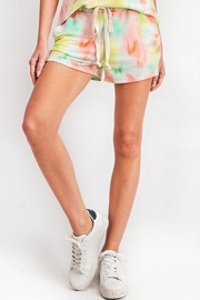 143 Story Tie Dye Leisure Knit Shorts - Product Mini Image