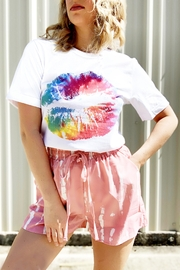 kissed Apparel Tie Dye Lips Tee - Front cropped