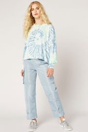 Daydreamer Tie Dye Long Sleeve Crop - Front full body