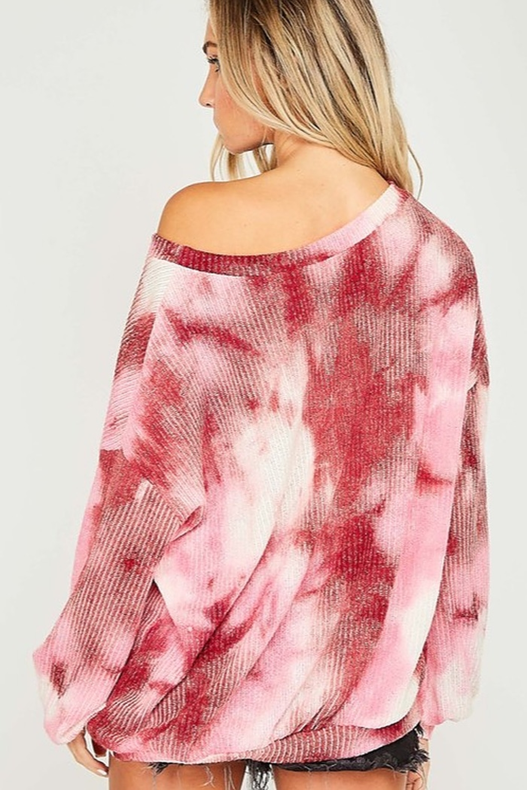 Fantastic Fawn  Tie Dye Long Sleeve Knit Top - Side Cropped Image