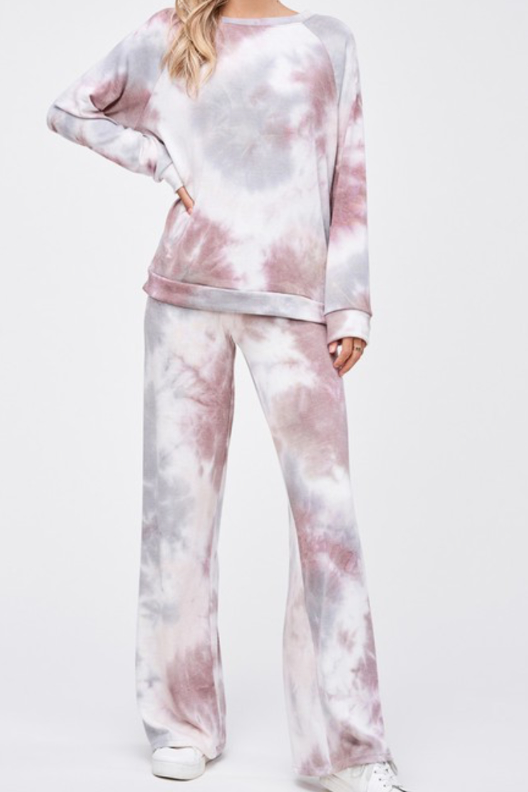 Phil Love Tie Dye Lounge Pant - Front Cropped Image