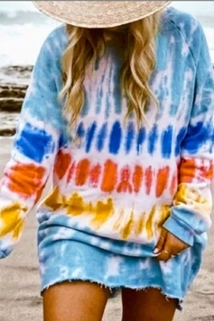 Shoptiques Product: Tie Dye LS Sweat Shirt