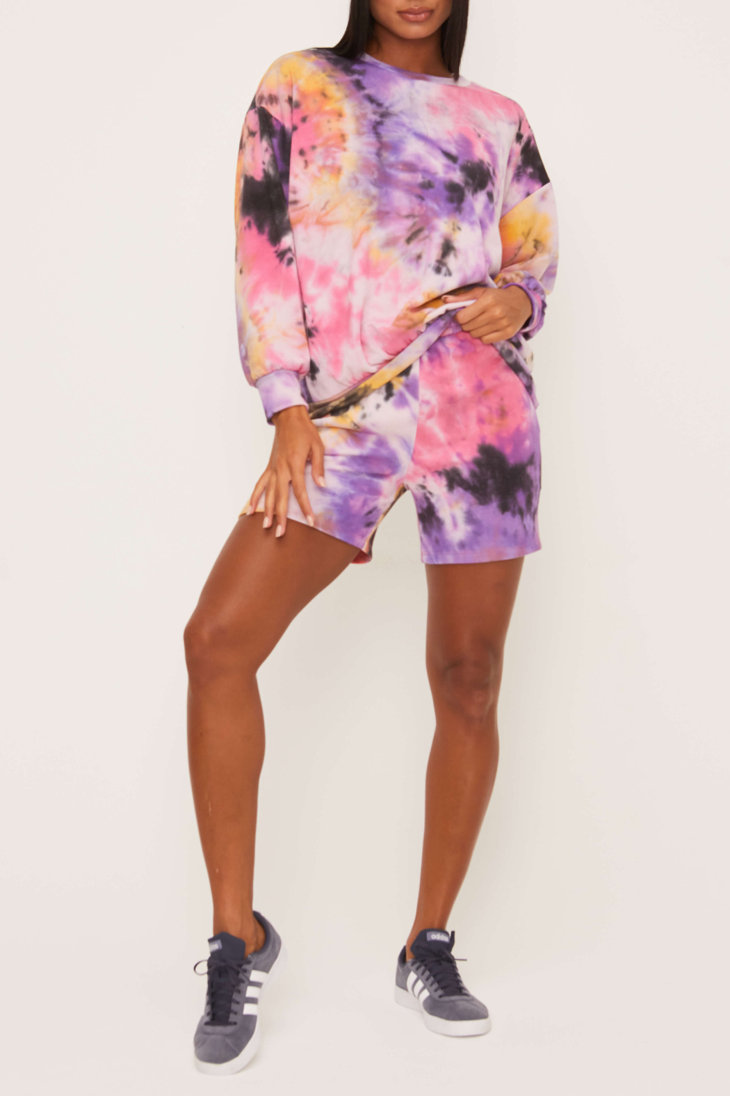 Lush  Tie Dye LS Top - Front Cropped Image