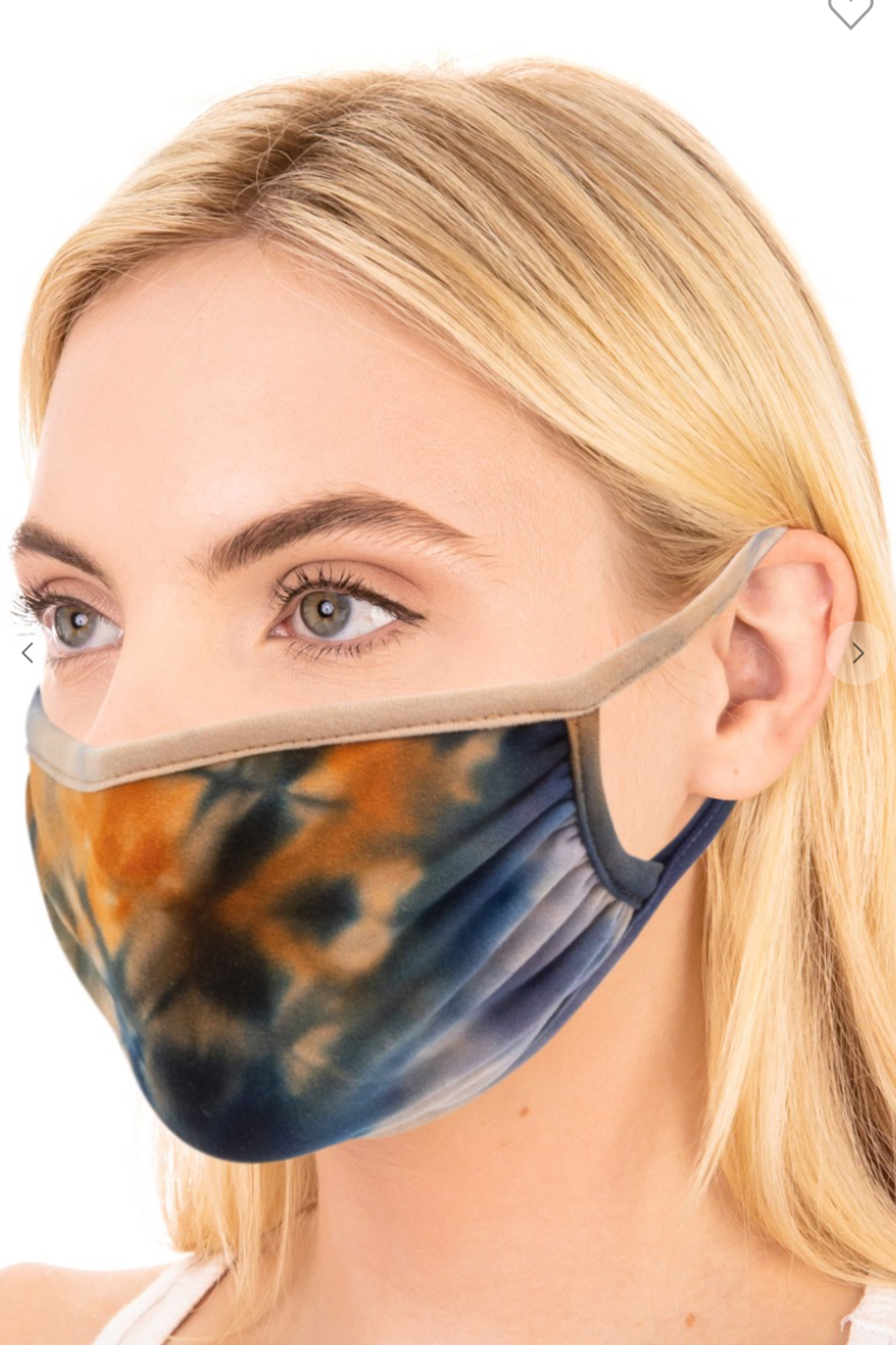 FAME ACCESORIES Tie-Dye Mask - Front Cropped Image