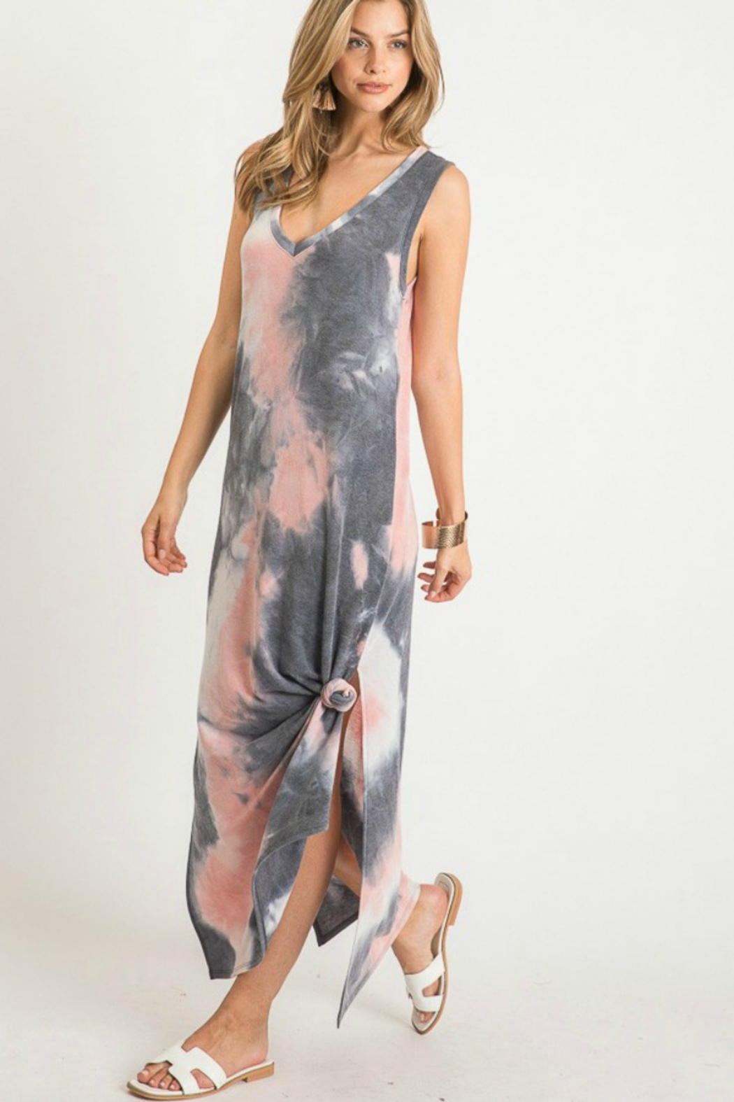 First Love Tie Dye Maxi - Side Cropped Image