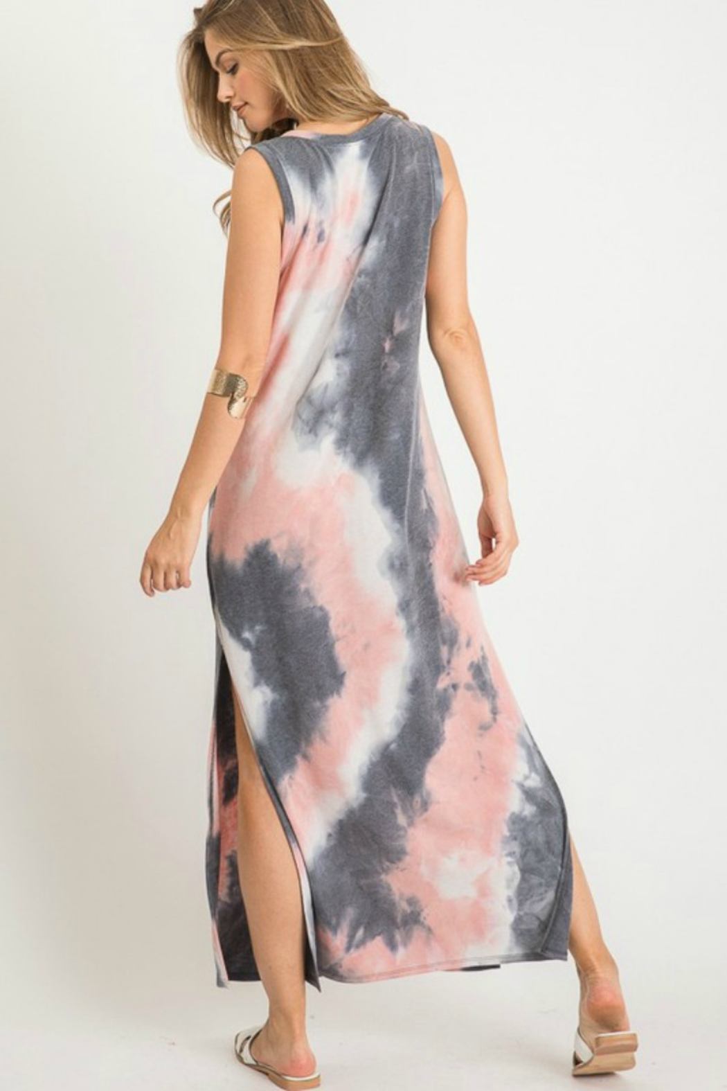 First Love Tie Dye Maxi - Back Cropped Image