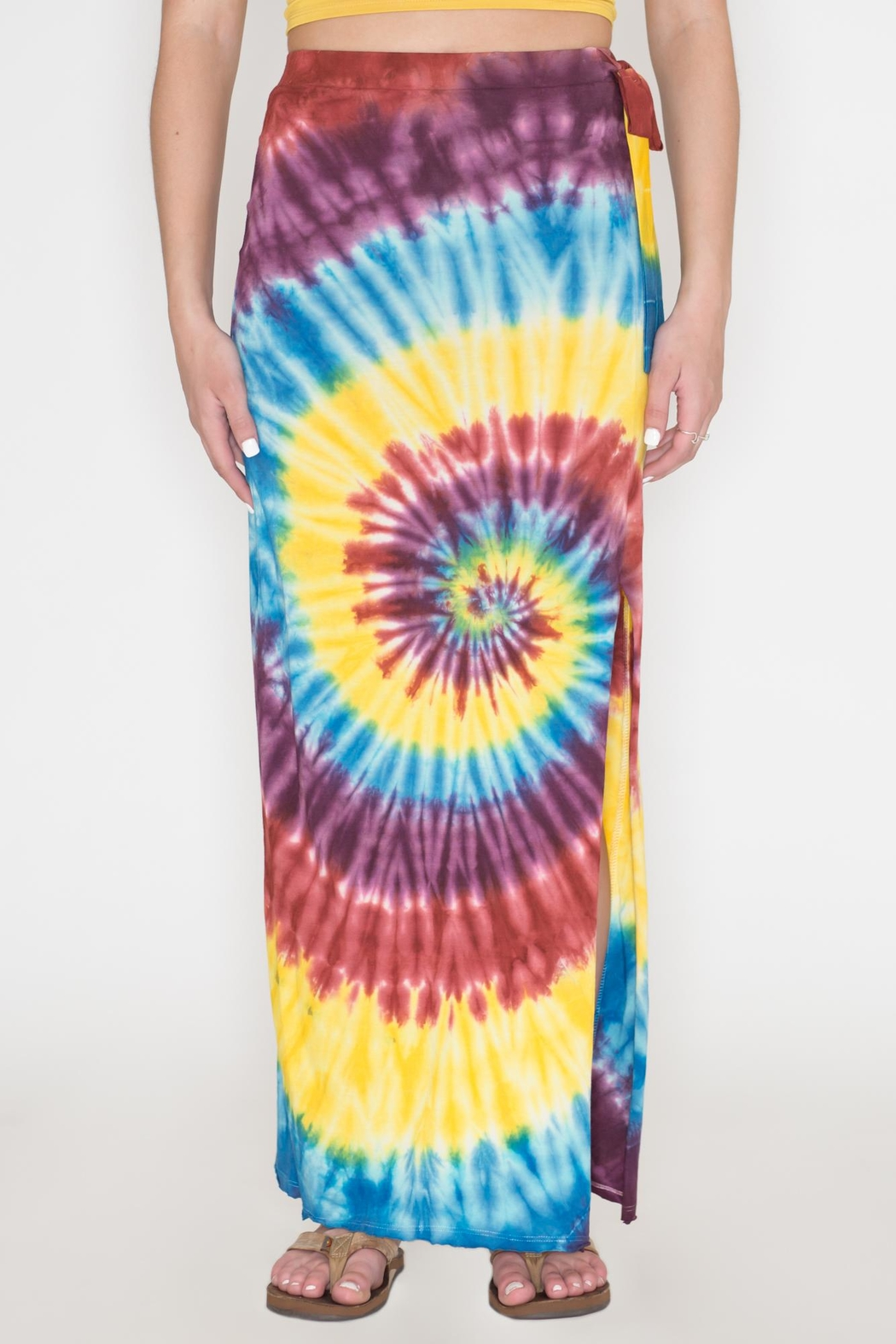 Bear Dance Tie-Dye Maxi Skirt - Front Cropped Image