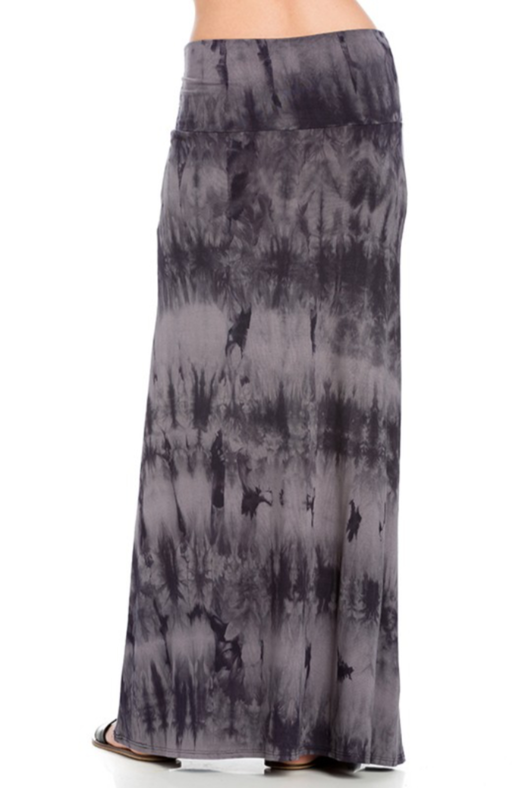 Azules Tie-Dye Maxi skirt with foldover waist - Side Cropped Image
