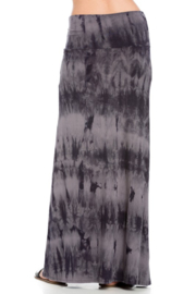 Azules Tie-Dye Maxi skirt with foldover waist - Side cropped