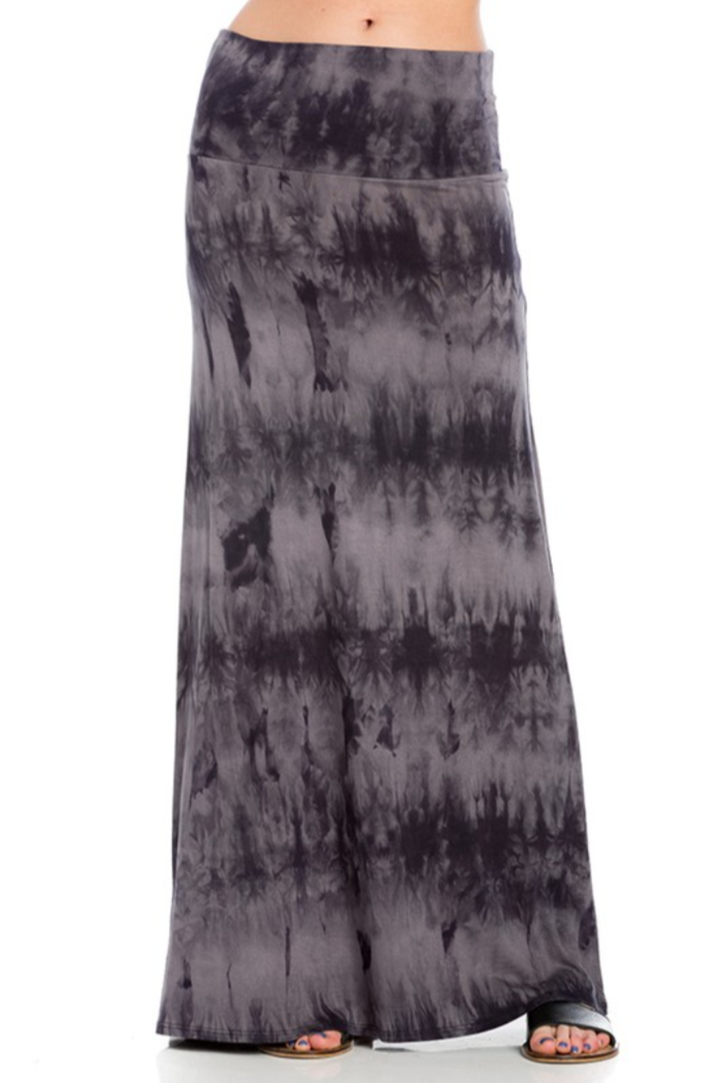 Azules Tie-Dye Maxi skirt with foldover waist - Main Image