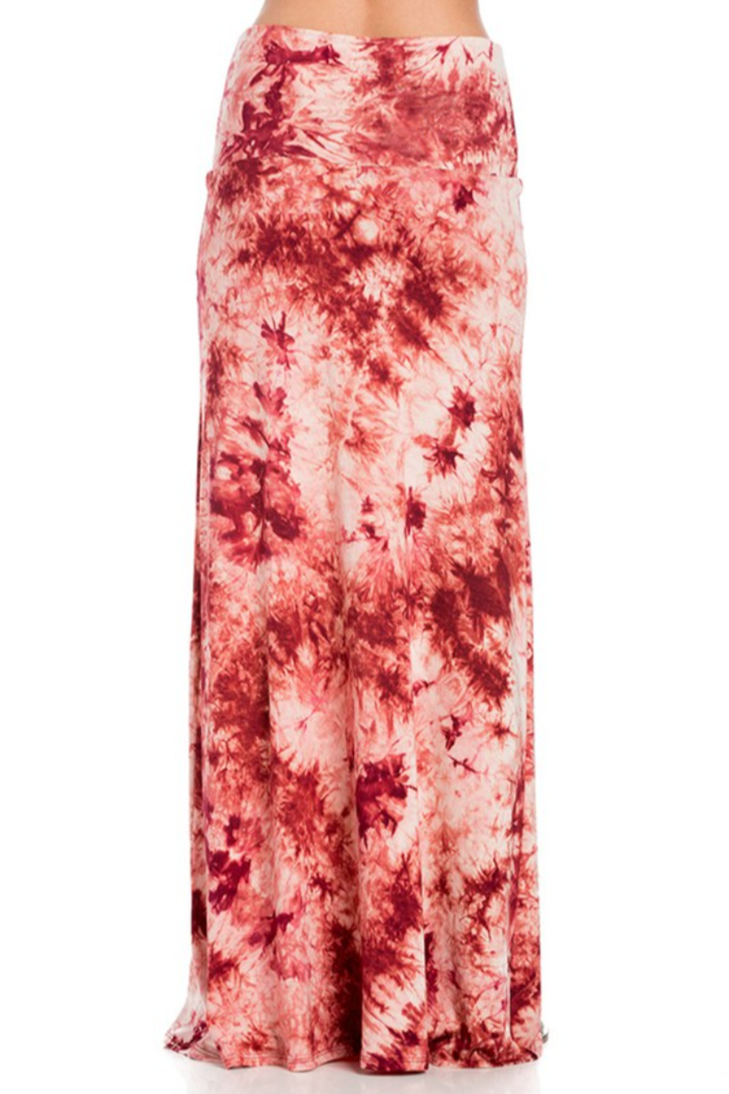 Azules Tie-Dye Maxi skirt with foldover waist - Front Full Image