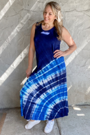 I Boutique  Tie-Dye Medalian Maxi Dress - Product Mini Image