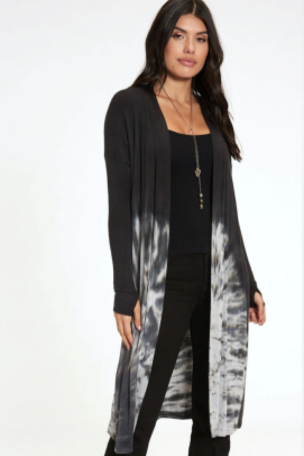 RIVER AND SKY Tie Dye Midi Duster - Main Image