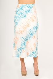Very J  Tie Dye Midi Skirt - Product Mini Image