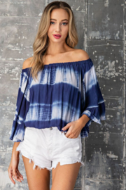 eesome Tie Dye Off Shoulder Top - Product Mini Image