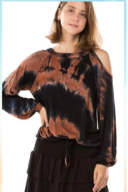 Vava Tie Dye One Shoulder Top - Front cropped