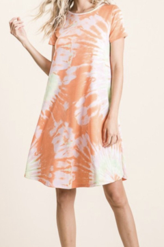 Kindred Mercantile Tie Dye orange blossom dress - Product List Image