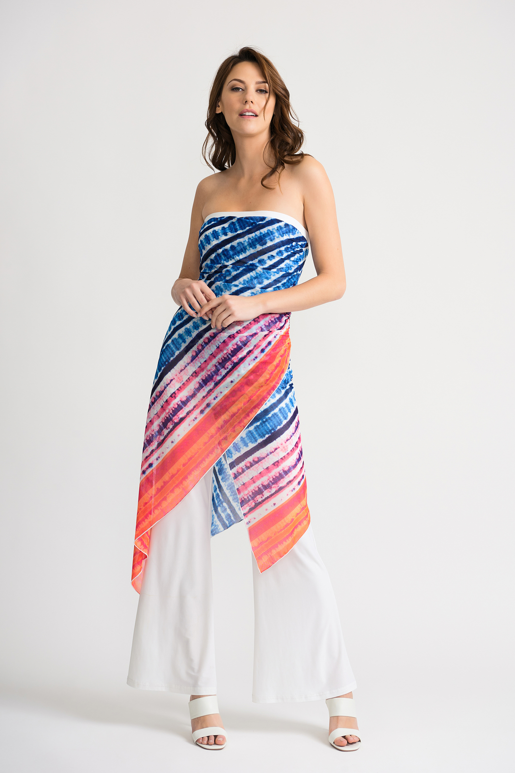 Joseph Ribkoff Tie-Dye Overlay Jumpsuit - Front Cropped Image