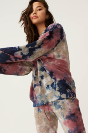 Daydreamer Tie Dye Oversized Crew Sweatshirt - Front full body
