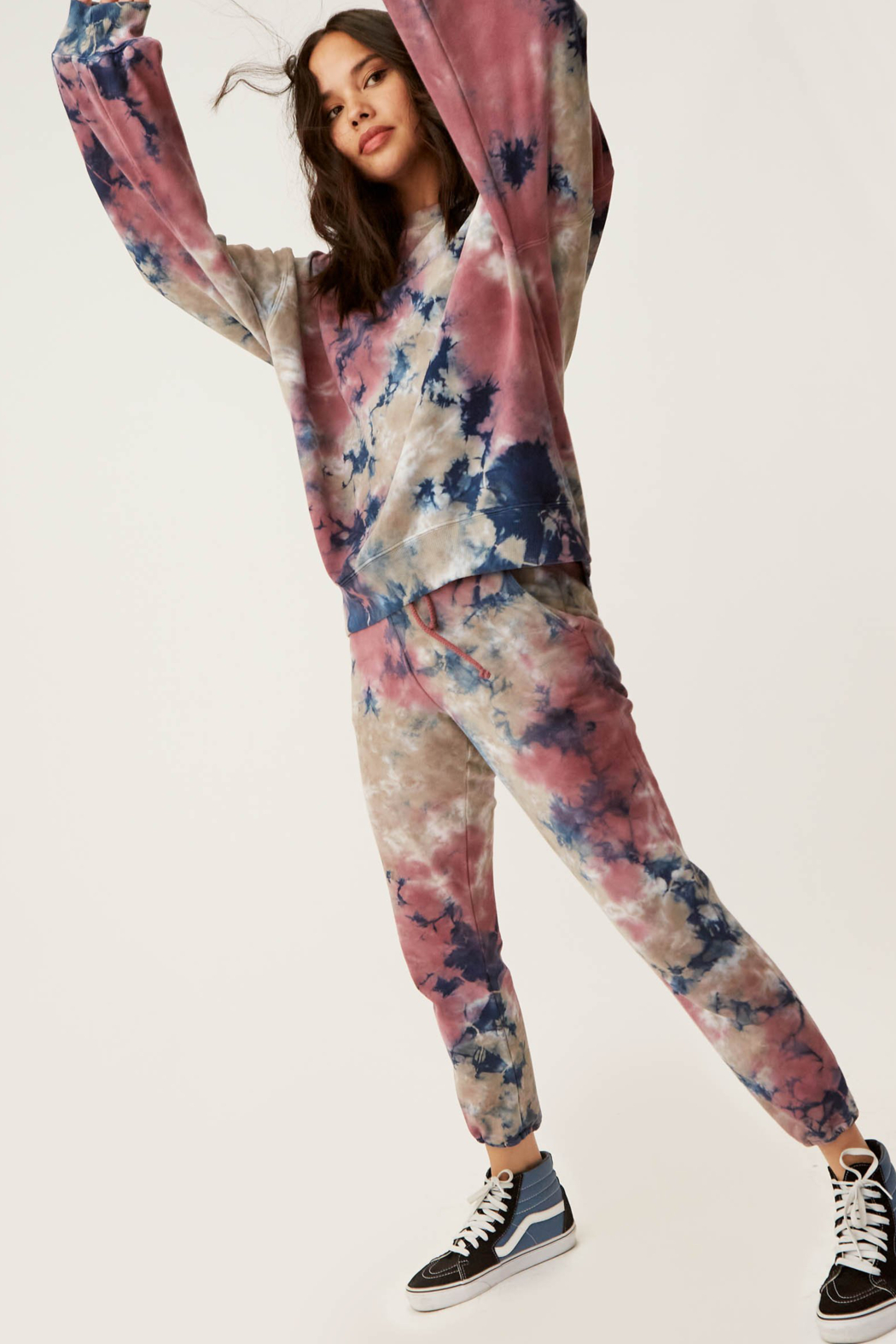 Daydreamer Tie Dye Oversized Crew Sweatshirt - Side Cropped Image