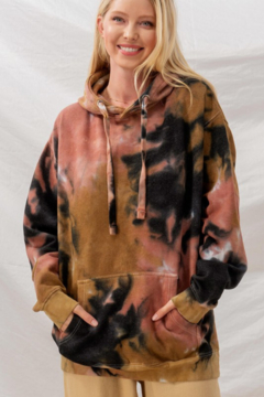 Trend Notes  Tie Dye Oversized Hoodie - Product List Image