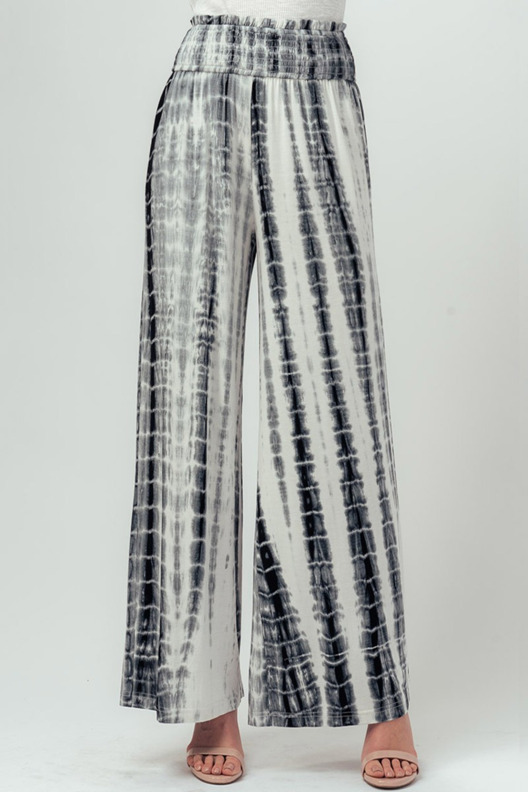 Trend Notes  Tie Dye Palazzo - Front Full Image