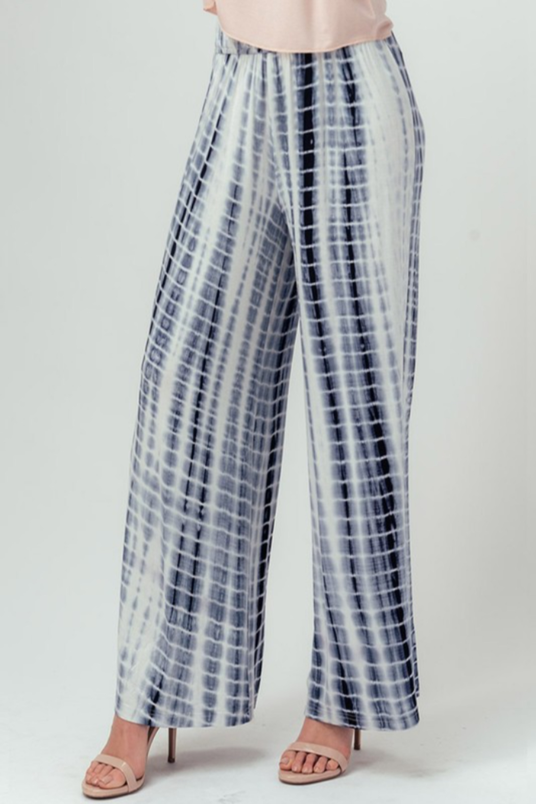 Trend Notes  Tie Dye Palazzo - Front Cropped Image