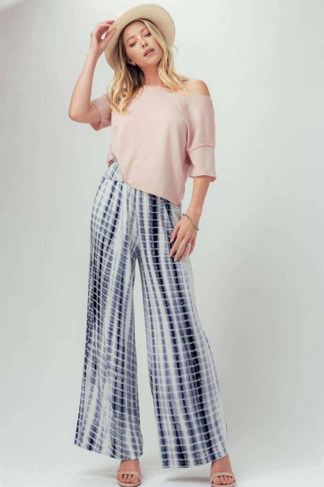 Trend Notes  Tie Dye Palazzo - Side Cropped Image