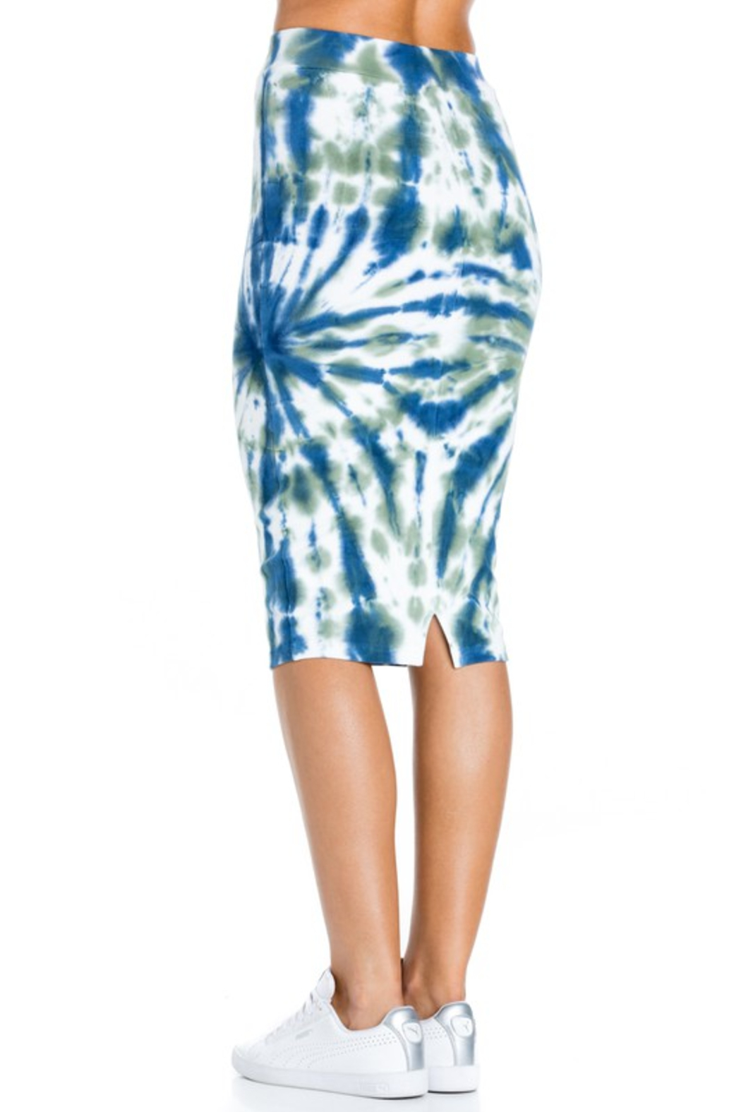 R+D  Tie dye pencil skirt - Back Cropped Image