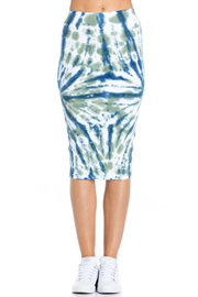 R+D  Tie dye pencil skirt - Front cropped
