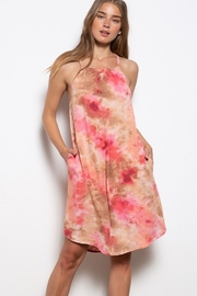 Mittoshop Tie Dye Print Halter Dress - Product Mini Image