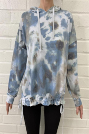 Fate Inc. Tie Dye Print Hoodie with Adjustable Bottom String - Product Mini Image