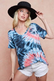 Bibi Tie Dye Print Jersey Knit Top - Product Mini Image