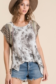 Ces Femme Tie Dye Print Mix and Match Top - Product Mini Image