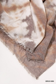 Umgee  Tie Dye Print Scarf with Frayed Edges - Back cropped