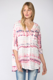 Fate Tie Dye Printed Hooded Button Down Shirt - Product Mini Image