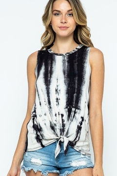 Wanna B Tie Dye Printed Top with Front Tie - Alternate List Image
