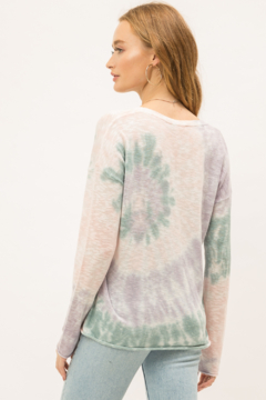 Mystree Tie Dye Pullover Sweater - Alternate List Image