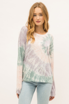 Mystree Tie Dye Pullover Sweater - Product List Image