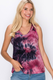 Coin 1804 Tie-Dye Racerback Tank - Product Mini Image