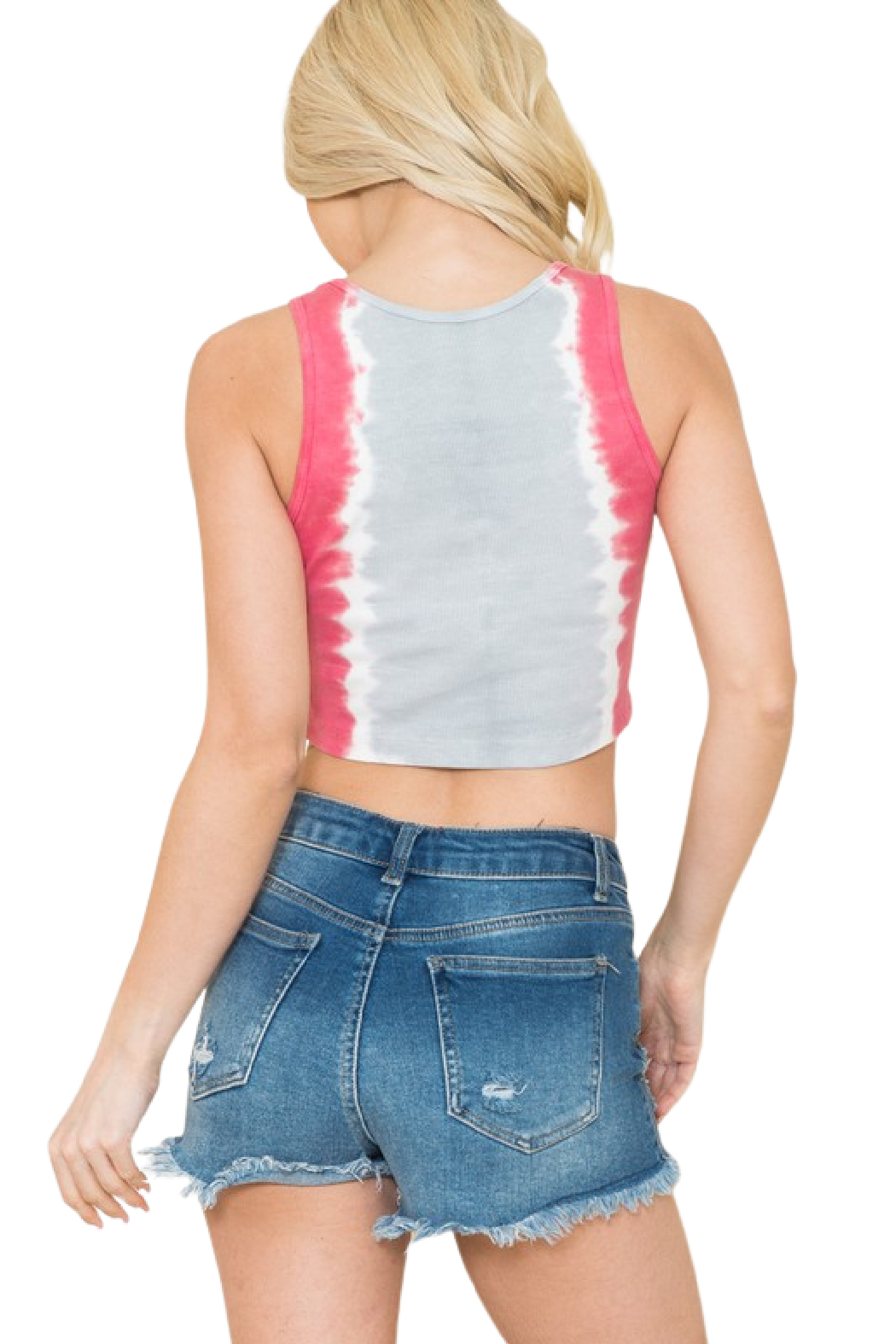 American Able  Tie Dye Rib Crop - Side Cropped Image