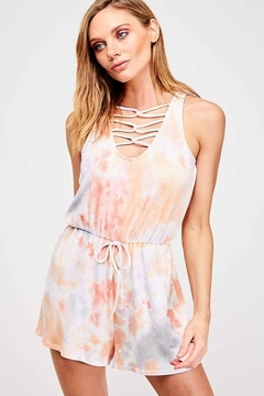 Fantastic Fawn Tie Dye Romper - Alternate List Image