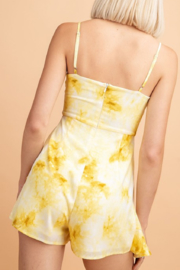 Le Lis Tie Dye Romper with Ruffle Layer - Side cropped
